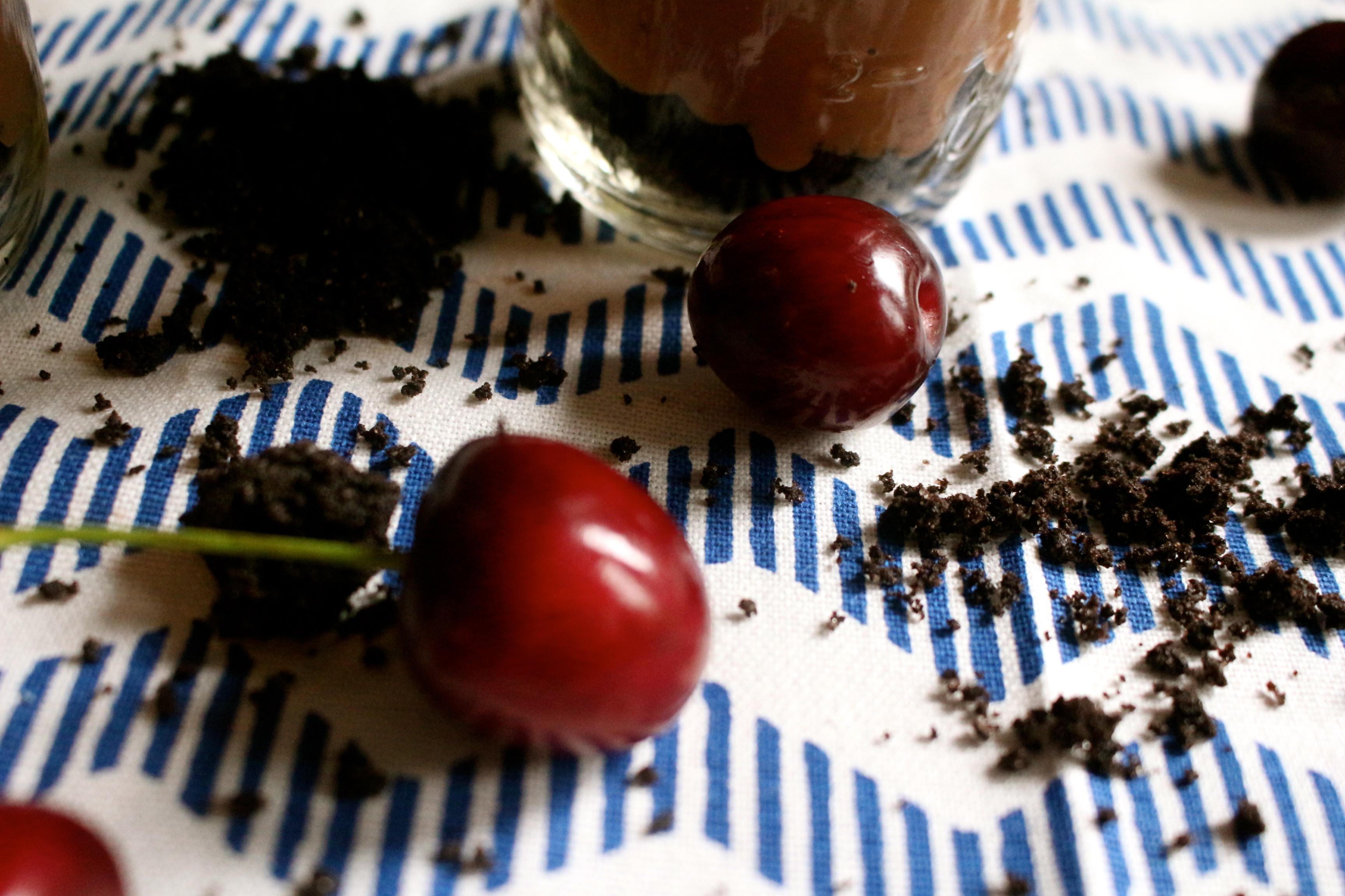 Chocolate Cherry Pudding Parfait_13